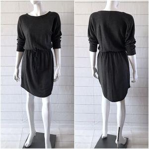 OldNavy Gray 3/4 Sleeve Terry Fleece Sweater Dress
